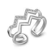 Кольца Для вечеринок Повседневные Спорт Бижутерия Серебрянное покрытие Кольца на вторую фалангу Классические кольца Кольцо 1шт,