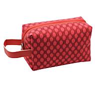 Porta-trucco Borsa per cosmetica / Porta-trucco PU Di pizzo Ellisse 19x11.5x10cm Nero / Rosso / Viola / Rose