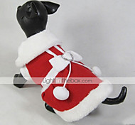 Cat / Dog Coat / Dress Red Dog Clothes Winter Bowknot Christmas / New Year's