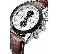 MEGIR Муж. Спортивные часы Модные часы Наручные часы Кварцевый Натуральная кожа Группа Винтаж Повседневная Люкс Разноцветный