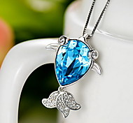 Pendants Crystal Gem Basic Unique Design Fashion Luxury Jewelry Dark Blue Jewelry Daily 1pc