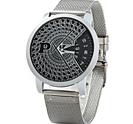 Men's Dress Watch Fashion Watch Quartz Alloy Band Silver