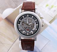 Men's Women's Unisex Sport Watch Military Watch Fashion Watch Wrist watch Mechanical Watch Calendar Automatic self-winding Genuine Leather