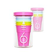 Classic Picnic Drinkware,210ml 6 in 1 BPA Free Polypropylene Juice Carbonated Beverage Rainbow Tumbler