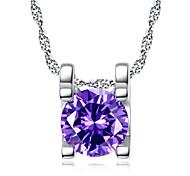 Fashion Necklace Set zircon lady short clavicle Zircon Pendant 0367# simple circle
