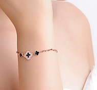 Bracelet Chain Bracelet Sterling Silver Flower Fashion Gift Valentine Jewelry Gift Silver,1pc