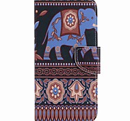 For Google Pixel XL Pixel Case Cover Brown Elephant Painted PU Phone Case