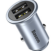 Baseus Car Charger For Cellphone For Tablet 2 USB Ports Other