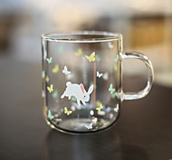 Transparent Cartoon Drinkware 370 ml BPA Free Glass Tea Juice Tea Cup