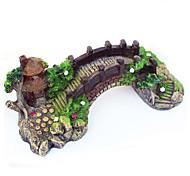 художественное оформление аквариума рыбы танк мост пейзаж украшения павильон дерево смола Akvaryum коряги