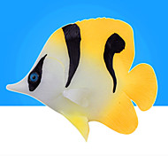 Aquário Decoração Peixe Artificial Noctilucente Resina Cores Aleatórias