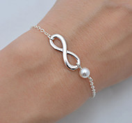 Chain Bracelet Pearl Bohemian Handmade Movie Jewelry Pearl Alloy Infinity Gold Silver Jewelry ForWedding Party Birthday Engagement
