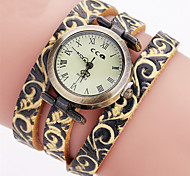 Men's Women's Kids' Unisex Fashion Watch Wrist watch Bracelet Watch / Quartz Genuine Leather BandVintage Flower Bohemian Charm Bangle