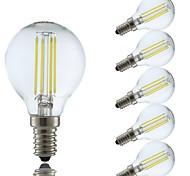 3.5 E14 Lampadine LED a incandescenza P45 4 COB 400/350 lm Bianco caldo Luce fredda AC 220-240 V 6 pezzi