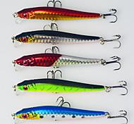 5 pcs Minnow Minnow Random Colors 0.0055 g Ounce mm inch,Plastic General Fishing
