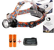 U'King® ZQ-X830B#2-EU CREE XML-T6 LED 2000LM Zoomable 180 Rotate 3Modes Headlamp Bike Light Kits with Rear Safety LED