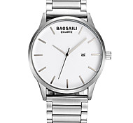 Dress Watch Fashion Watch Wrist watch Calendar Quartz Alloy Band Cool Casual Black Silver