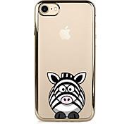 For Plating Case Back Cover Case Cartoon Zebra Soft TPU  for IPhone 7 7Plus iPhone 6s 6 Plus iPhone 6s 6 iPhone 5s 5 5E 5C