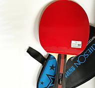 3 Estrellas Tabla raquetas de tenis Ping Pang Madera Mango Corto Las espinillas Rendimiento Práctica Deportes de ocio