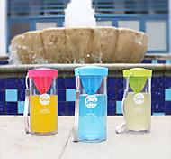 Transparent Drinkware, 350 ml Squeezing Plastic Tea Juice Tea Cup