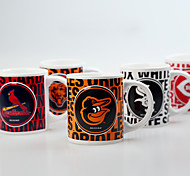 Sports Club Emblem Souvenir Cups , 340 ml American Leagues Fans Ceramic Mug