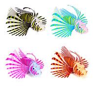 Aquário Decoração Peixe Artificial Noctilucente Silicone