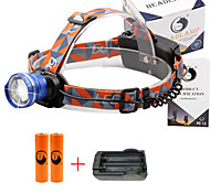 U'King® ZQ-X830BL#2-EU CREE XML-T6 LED 2000LM Zoomable 180 Rotate 3Modes Headlamp Bike Light Kits with Rear Safety LED