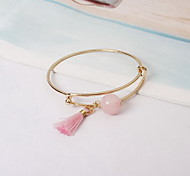 Bracelet Bangles Alloy Imitation Pearl Others Fashion Gift Valentine Christmas Gifts Jewelry Gift Gold Pink,1pc
