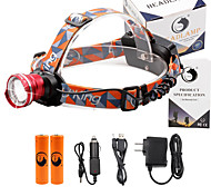 U'King® ZQ-X830R#-US CREE XML-T6 LED 2000LM Zoomable 180 Rotate 3Modes Headlamp Bike Light Kits with Rear Safety LED