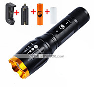 UKing ZQ-X909GO#1-US Adjustable Portable High Power 2000Lm 5Mode CREE T6 LED Flashlight Torch Kit