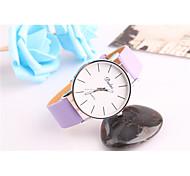 Fashion Watch Quartz Leather Band White Blue Red Green Pink Purple Purple Green Red Blue Blushing Pink Strap Watch