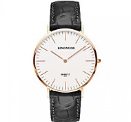Fashion Watch Quartz Leather Band Cool Casual Black Brand