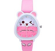 Kid's Watch Fashion Cute Rabbit Watch Couple's  Watch Japanese Quartz PU Band Casual Black White Brown Pink Watch