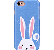 For Apple iPhone7 7 Plus 6S 6Plus Case Cover Rabbit Pattern IMD Process High End Painted Phone Case