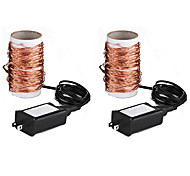 YouOKLight 2PCS 10M 5W DC5V/1A 100xSMD 0630 Warm White LED String Lights Copper Wire Lights Waterproof Starry String Lights