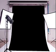 3x5ft черный тонкий винил фотографии фон студия проп фото фон