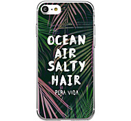 Ocean Air Banana For Ultra Thin Transparent Pattern Case Back Cover Case Tree Soft TPU for iPhone 7 Plus 7 6s Plus 6 Plus 6s 6 SE 5s 5