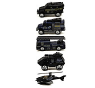 Fire Engine Vehicle Vehicle Playsets 1:64 Metal Plastic Black