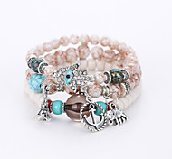 The European And American Fashion Elephant Tower Bracelet Palm Multilayer Hand String