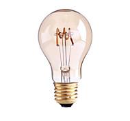 4W E26/E27 B22 Lampadine LED a incandescenza G60 1 COB 400 lm Bianco caldo Intensità regolabile AC 110-130 AC 220-240 V 1 pezzo