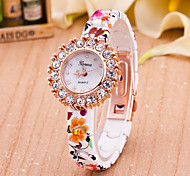 Fashion Watch Quartz Leather Band Red Brand