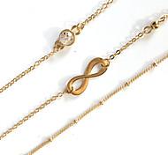 3pcs/set Bracelet Chain Bracelet Alloy Infinity Movie Jewelry Handmade Bohemia Wedding Party Birthday Engagement Valentine Christmas Gifts Jewelry