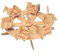Puzzle Kit fai-da-te Costruzioni Puzzle 3D Gioco educativo Puzzle Modellini di legno Costruzioni Giocattoli fai da teCircolare Edificio