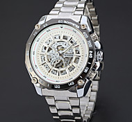 Men's Women's Unisex Sport Watch Dress Watch Skeleton Watch Fashion Watch Wrist watch Mechanical Watch Automatic self-winding Alloy Band