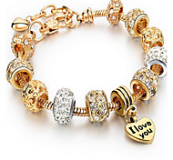 Chain Bracelet Crystal Natural Vintage Fashion Alloy Cross Jewelry Jewelry For Birthday Gift 1pc
