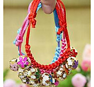 Dog Collar Bells Colorful Fabric