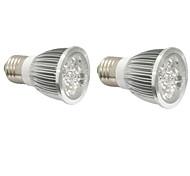 4W E14 GU10 E27 Lampes Horticoles LED 4 LED Haute Puissance 360-400 lm Bleu Rouge V 2 pièces