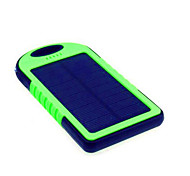 5000mAhPower Bank Внешняя батарея Зарядка от солнца Подсветка Очень тонкий 5000 1000 Зарядка от солнца Подсветка Очень тонкий