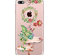 Succulent Plants Pattern Case Flower Soft TPU for Apple iPhone 7 Plus iPhone 7 iPhone 6 Plus iPhone 6 iPhone 5 SE 5C iphone 4
