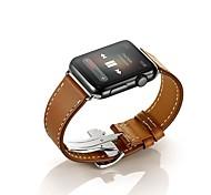 Premium echt mit Adapter Schnalle Band Bereitstellung Leder Uhr für 38mm 42mm Apfel Uhr
